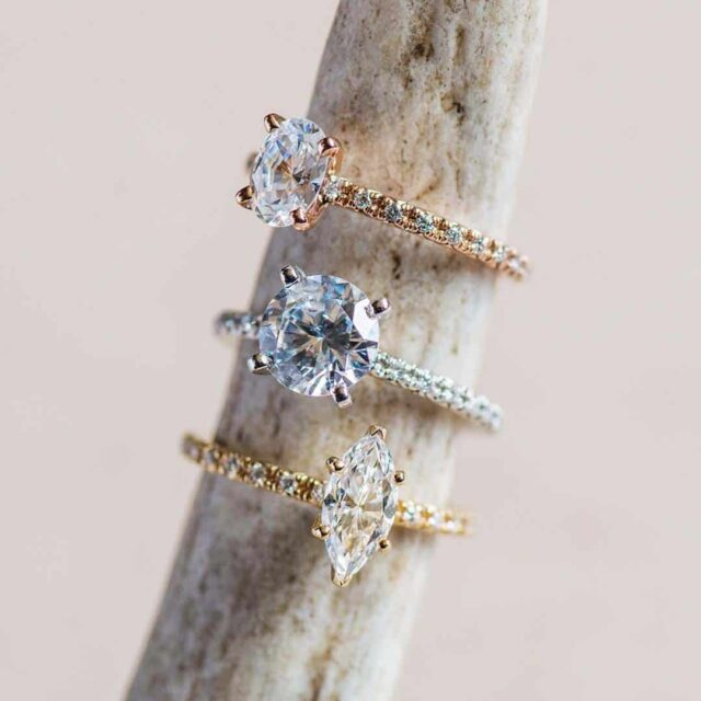 Oval, Round, Marquise-shaped Diamond Engagement Rings James Allen.