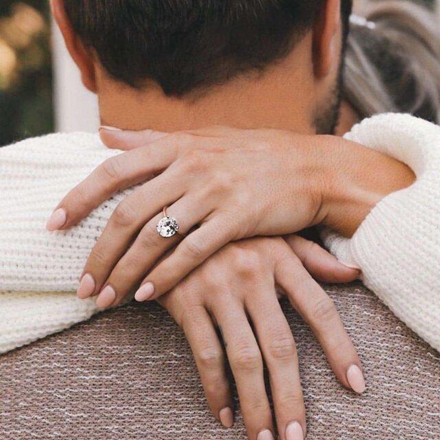 James Allen Split Shank Solitaire Diamond Engagement Ring.