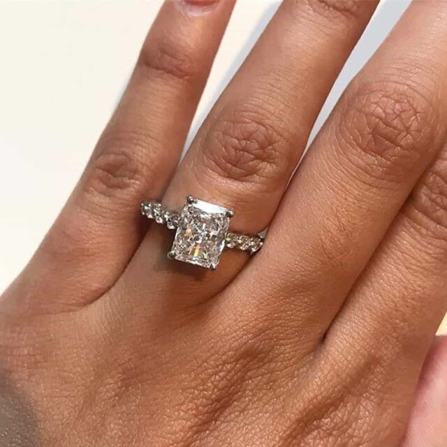 Ritani Radiant Cut Diamond Engagement Rings.