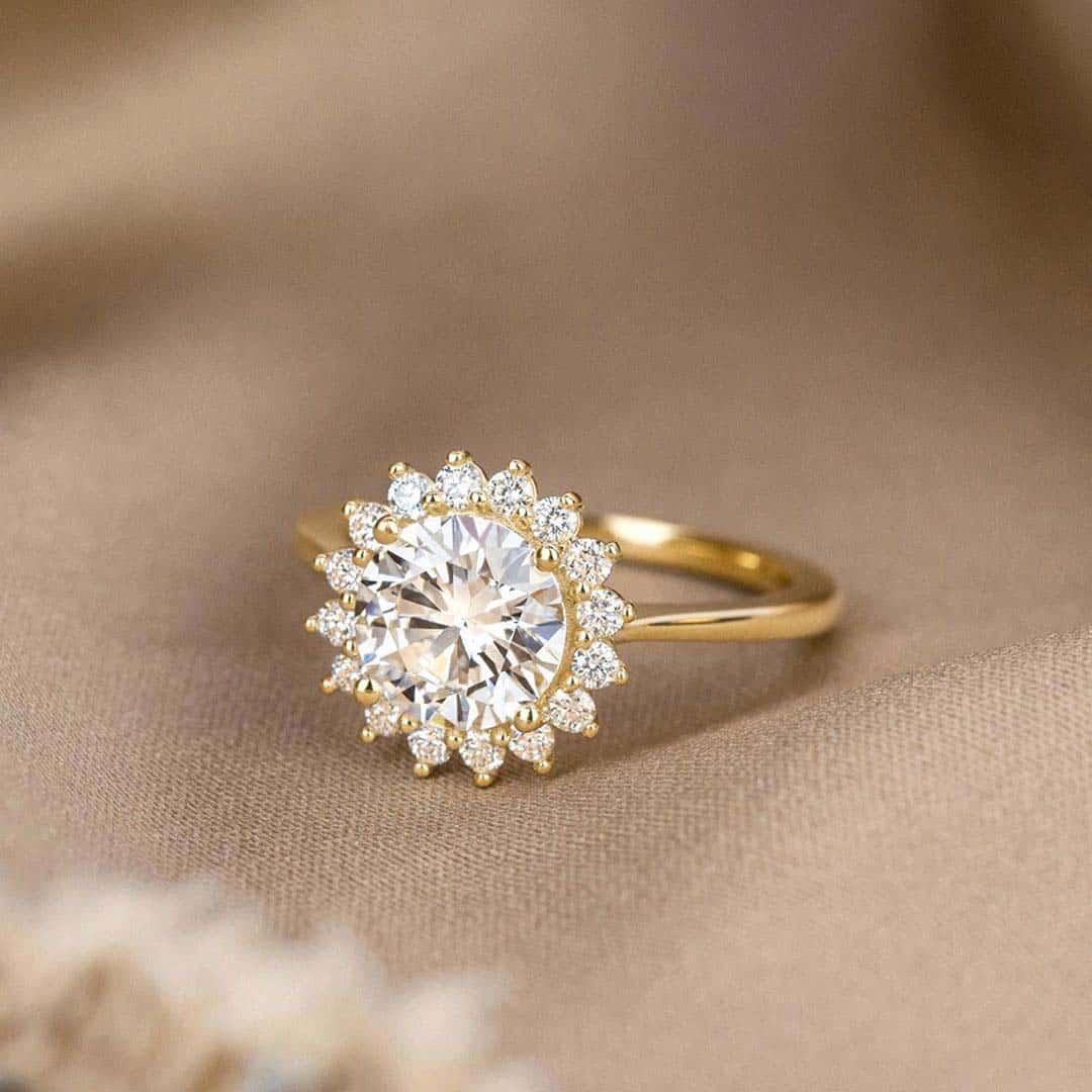Sunburst Setting by Brilliant Earth Diamonds.