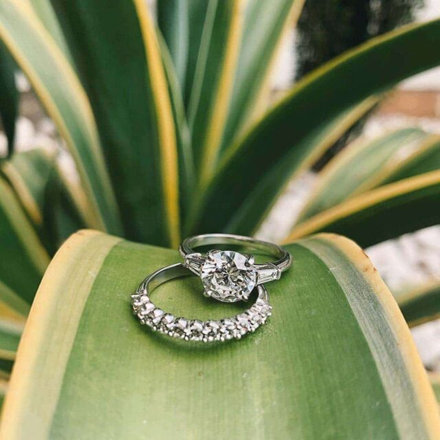Tapered Baguette 3-stone diamond engagement ring by James Allen.