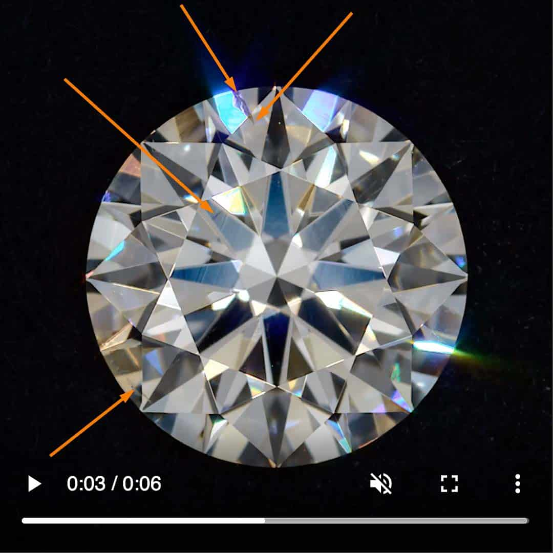 Example of SI1 Clarity, Brian Gavin Signature diamond.