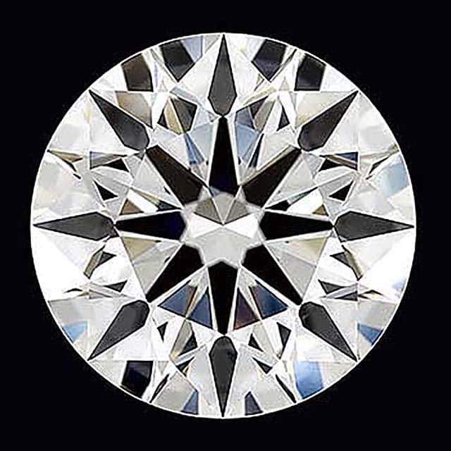 James Allen True Hearts diamond, 3.17 carats, H-color, VVS1 clarity, AGS Ideal-0 cut.