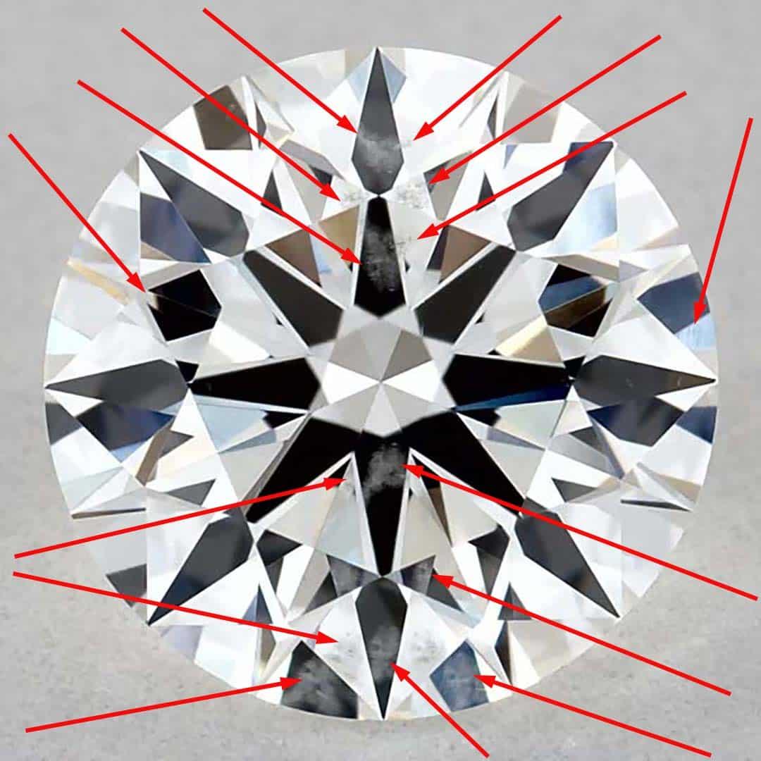 James Allen True Hearts Diamond SI2 Clarity.