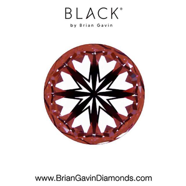 Black by Brian Gavin Hearts and Arrows Diamond.