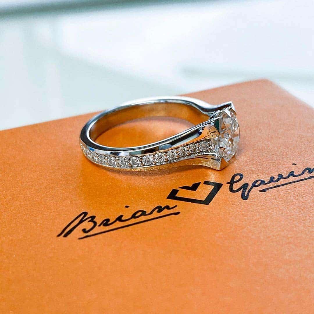 Black by Brian Gavin Diamond Custom Engagement Ring.