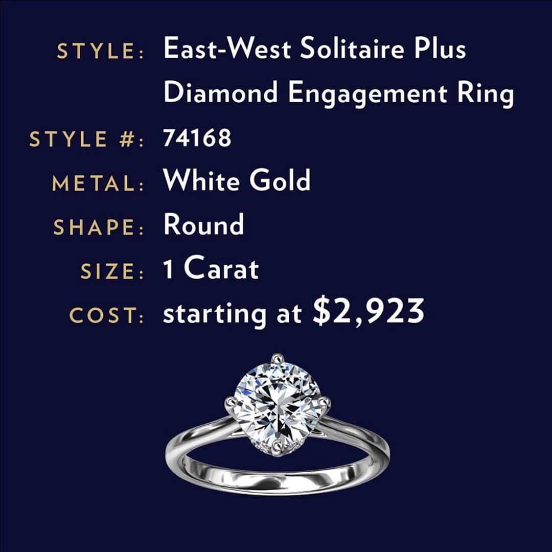 Blue Nile Diamond I1 Clarity 1-carat East West Engagement Ring.