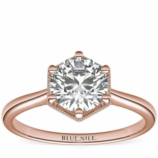 Blue Nile Review Hexagon Solitaire Rose Gold
