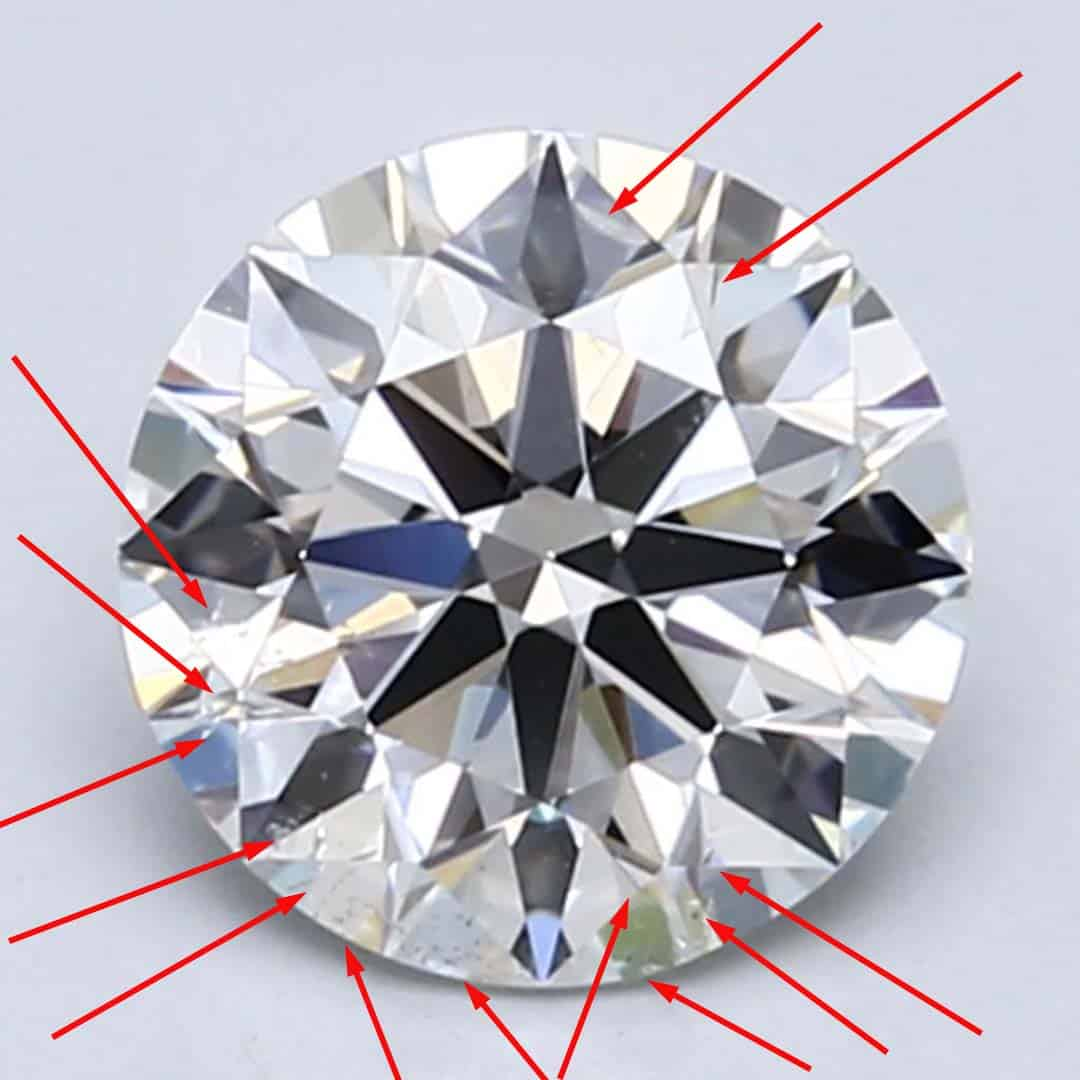 Example of an SI1 Clarity Diamond from Blue Nile.