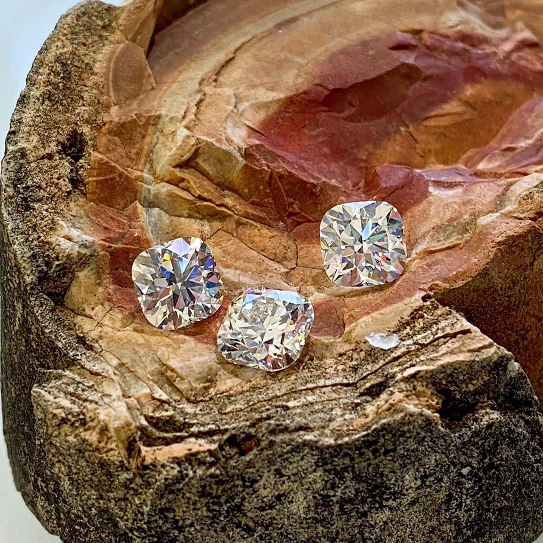 Brian Gavin Select Cushion Cut Diamonds.