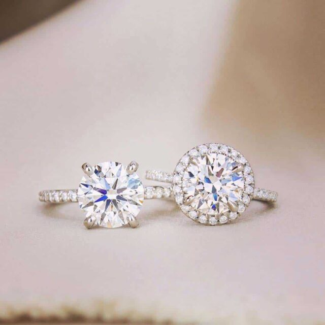 Pave and Halo Style Engagement Rings by Brilliant Earth.