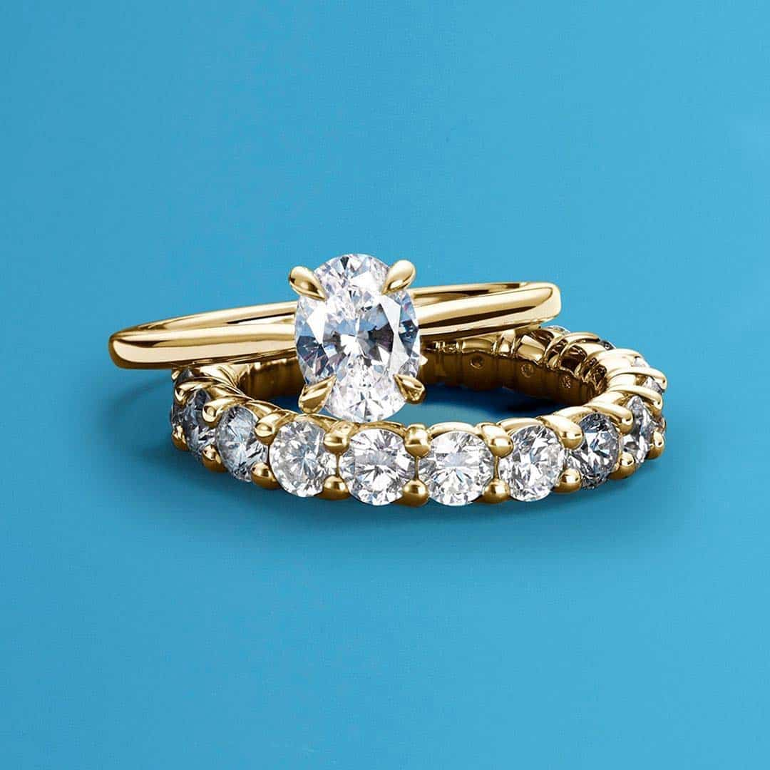 Petite Hidden Halo Blue Nile Engagement Ring.