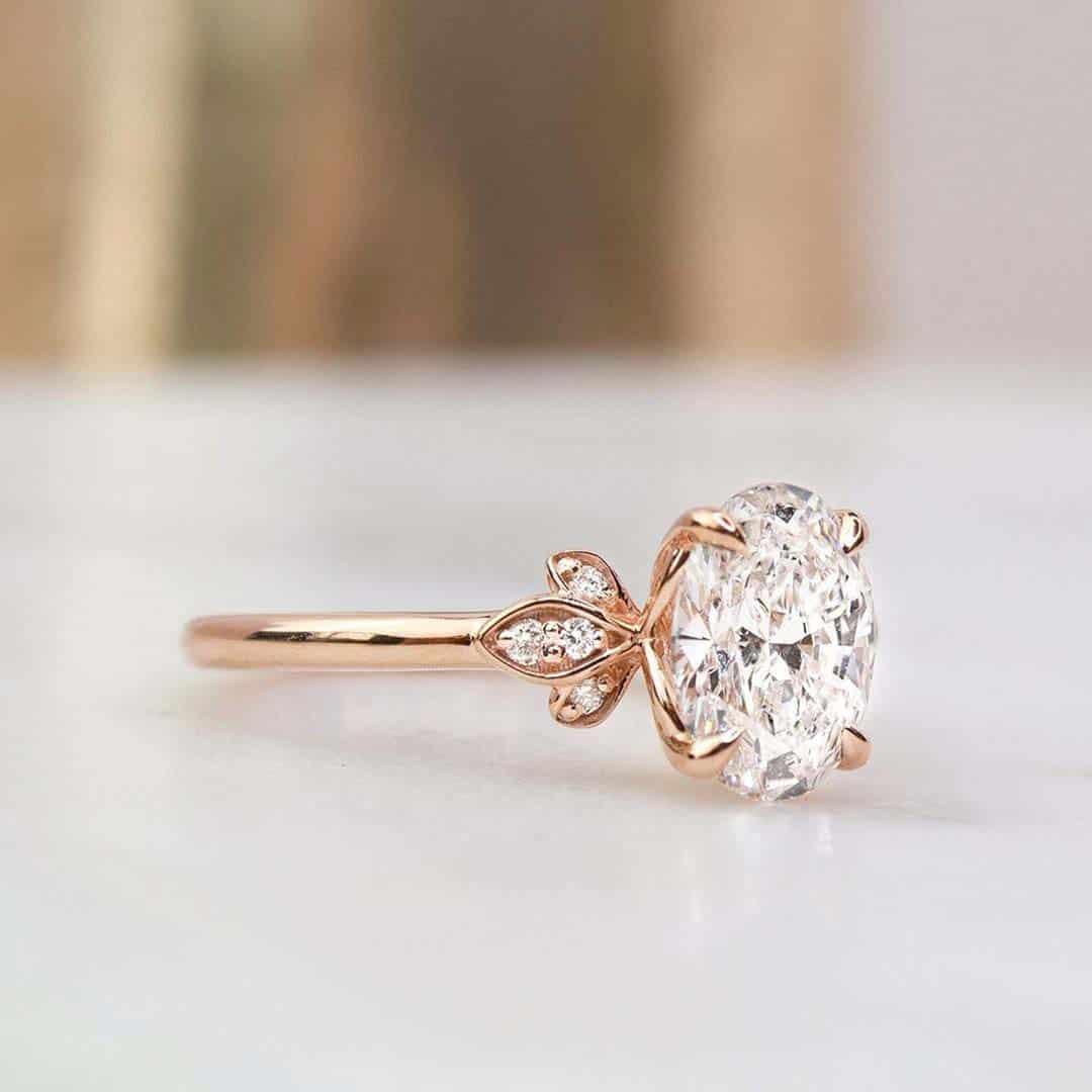 Rose Gold Oval Diamond Engagement Ring by Brilliant Earth.