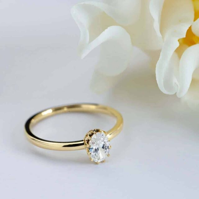 Oval Cut Diamond Solitaire by Blue Nile.