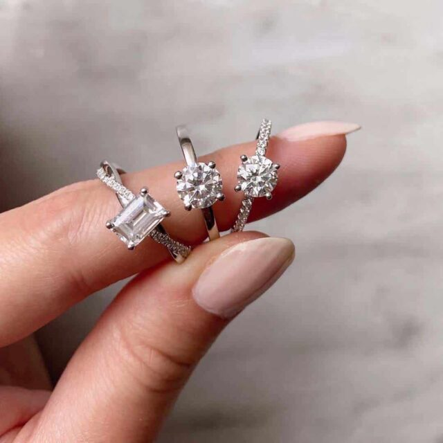 With Clarity I1 and Higher Diamond Engagement Rings.