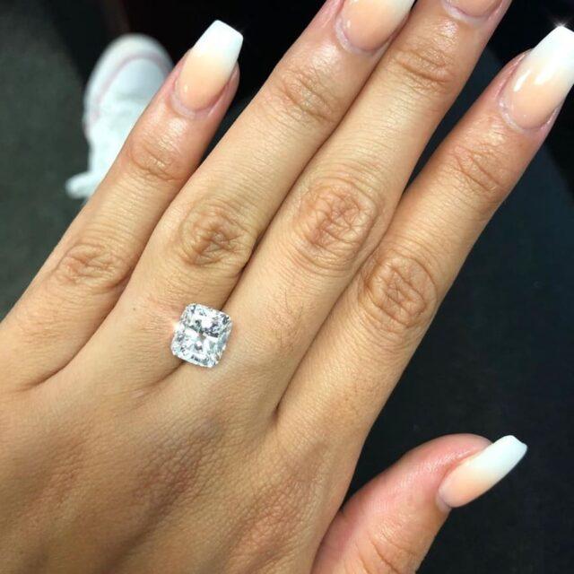 3-carat, Ritani Cushion Cut Diamond.