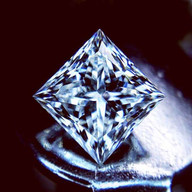 3-chevron Brian Gavin Signature Princess Cut Diamond.