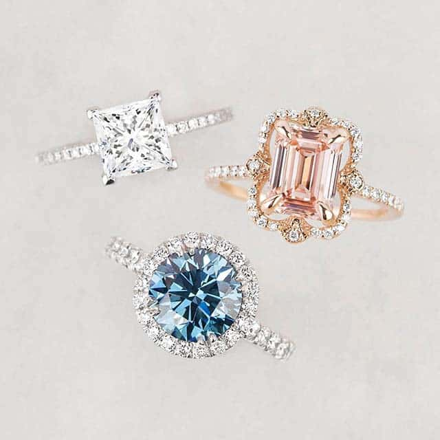 Colorless and Fancy Color Diamond Engagement Rings by Brilliant Earth.