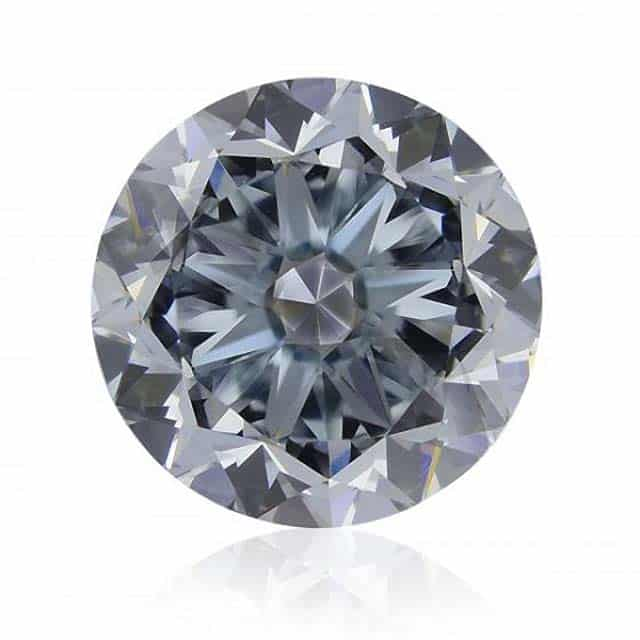 Fancy Greyish-Blue Round Diamond from Brian Gavin.