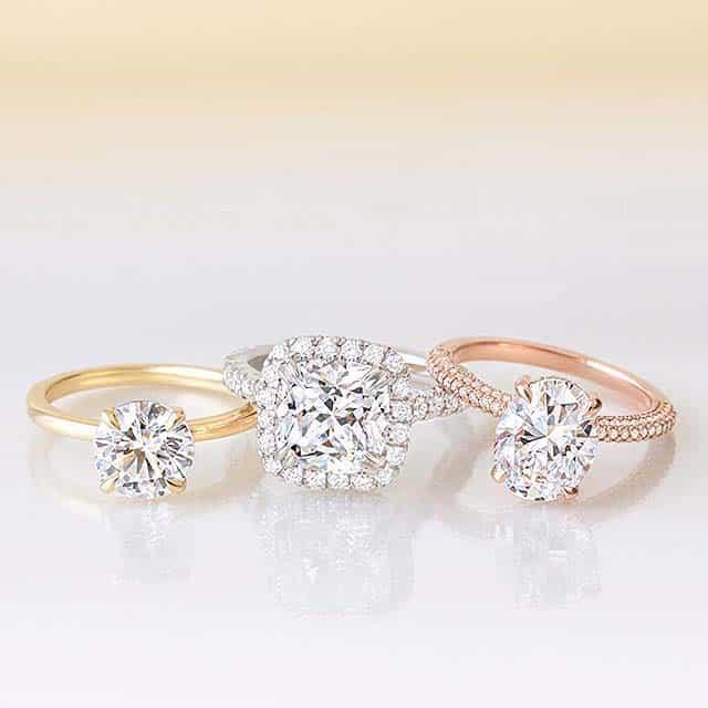 Diamond Color Charts for Brilliant Earth Diamonds.