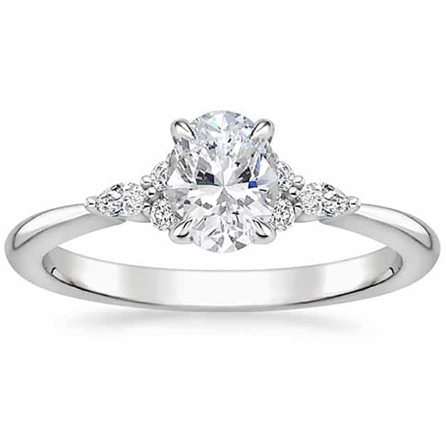 Nadia Diamond Cluster Engagement Ring by Brilliant Earth.