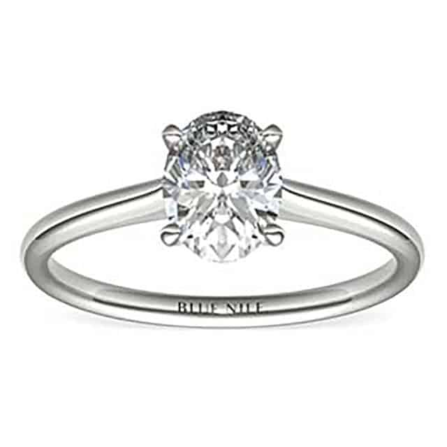 Petite Solitaire for Oval Cut Diamonds