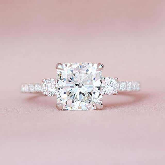 Brilliant Earth Radiance Diamond Engagement Ring.