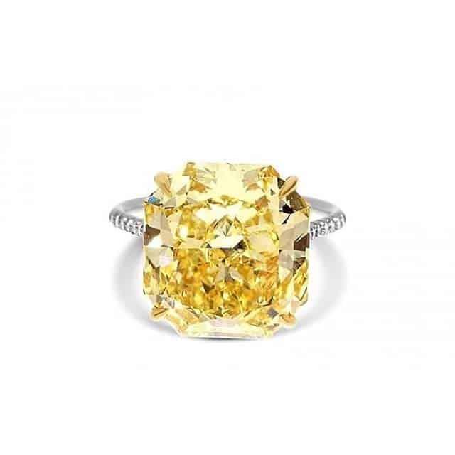Custom Fancy Color Diamond Ring by Brian Gavin.