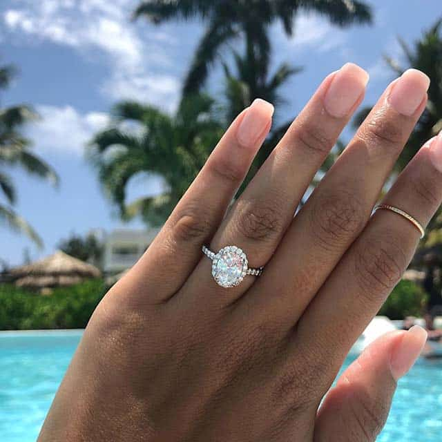 French Halo Setting Oval Diamonds Ritani