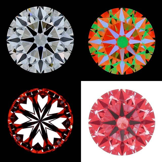 ASET, H&A, Ideal Scope Images for Blue Nile Diamonds.