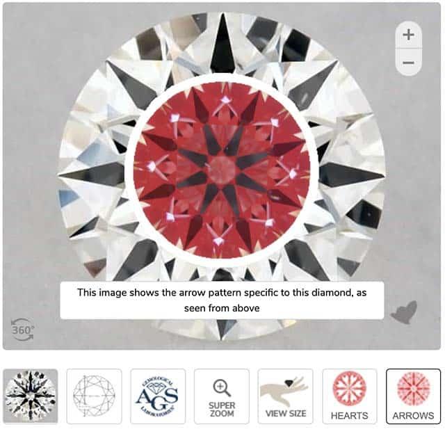 Ideal Scope for James Allen True Hearts Diamond.