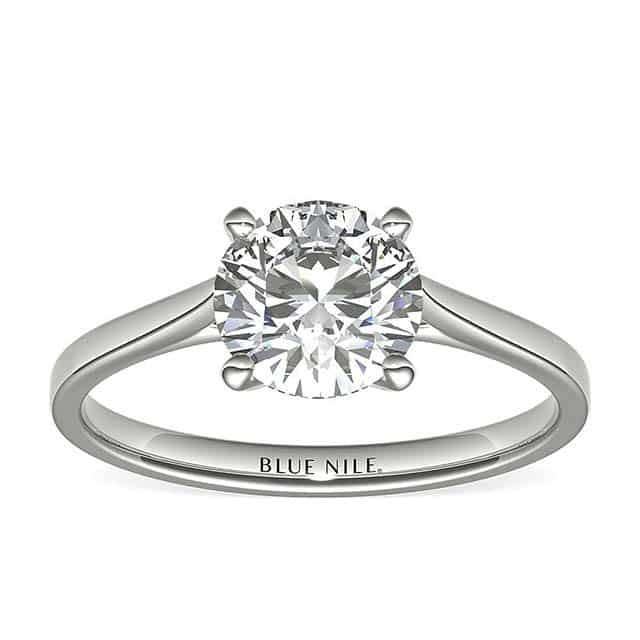 Petite Cathedral Solitaire by Blue Nile Diamonds.