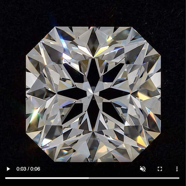 Quadex Square Brilliant Hearts and Arrows Diamond from Brian Gavin.