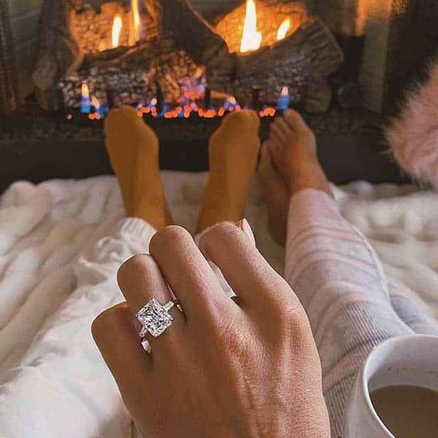 Radiant Cut Diamond Ring from James Allen.