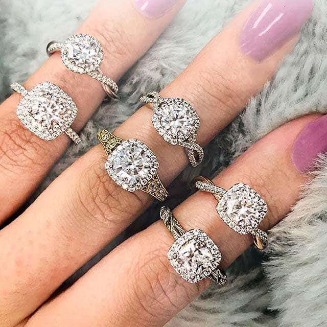 Sylvie Engagement Rings from Brian Gavin.