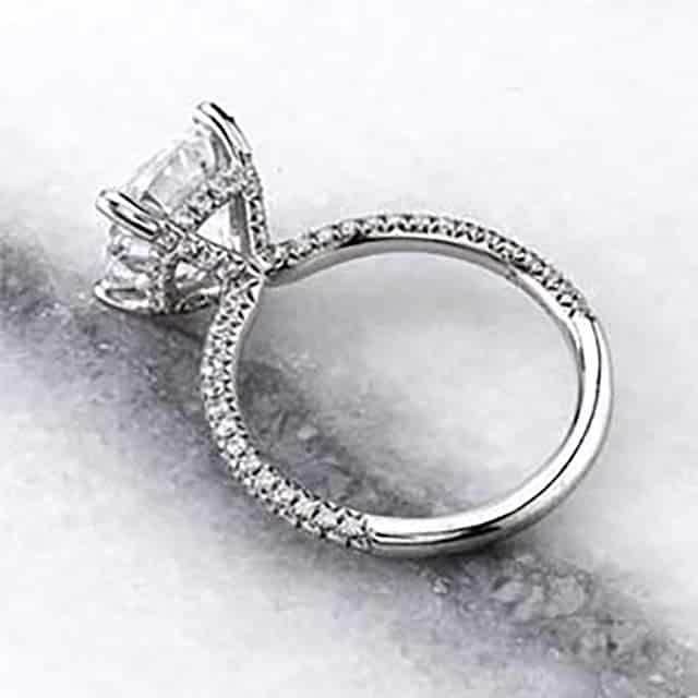 Custom Sylvie Engagement Ring from Brian Gavin.