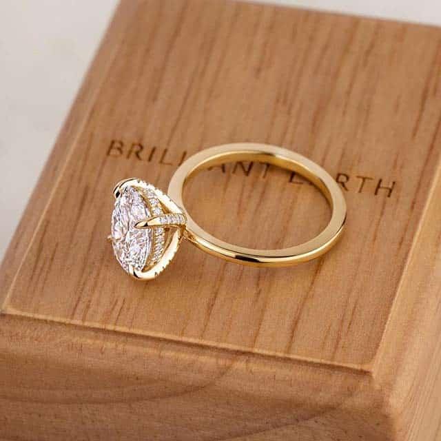 Brilliant Earth Wooden Ring Box.