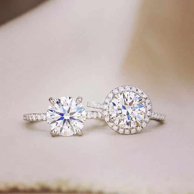 Halo and Sidestone Engagement Rings from Brilliant Earth.