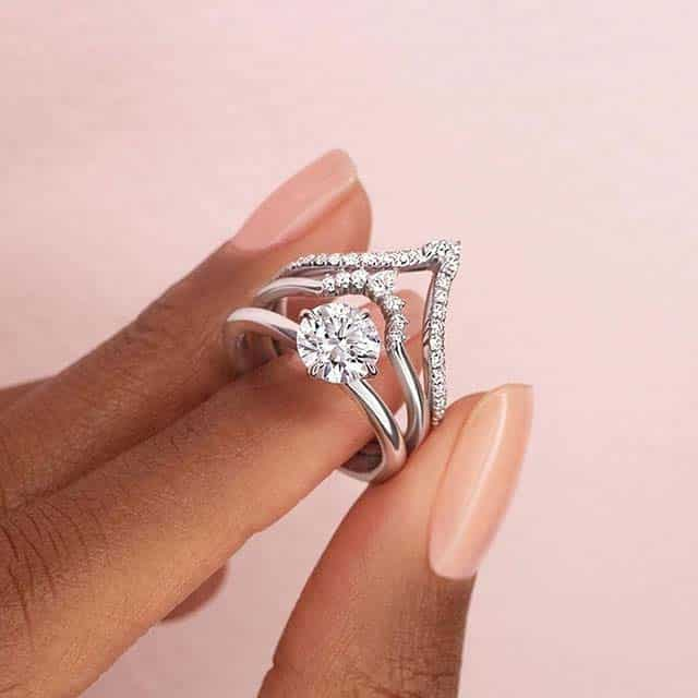 Contour Engagement Ring Sets from Brilliant Earth.